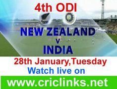 28th January ,Tuesday...4th ODI between India vs New zealand will be played at Hamiltion.India have other chance to alive the seris again.other hand NZ have a strong chance to win a seris..Match will be start at 6.00 AM PST.6.30 AM IST.Watch live action only on http://www.criclinks.net/ #Indvsnz