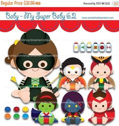 50% OFF Superhero Baby Girls 6.2 - PNG SVG Eps Vector Cliparts Clip Arts File Instant Download Printable Digital Scrapbooking Kit by clipartsuperstore on Etsy