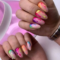 Crazy Nails, Love Nails, Pretty Nails, Crazy Summer Nails, Splatter Nails, Paint Splatter, Teen Nails, Romantic Nails, Nails Only