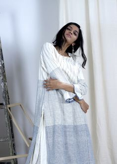 Indian Designer Outfits, Indian Outfits, Tunics, Blouses, Kurta With Pants, Slow Living, Kurta Designs, Hijab Outfit, Casual Summer Outfits