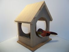 4 Sided Window Bird Feeder With Suction Cups