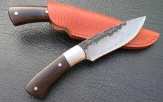 custom knives | Handmade Damascus Steel Virginia Blade Hunting Knife, Canada Outdoor ...