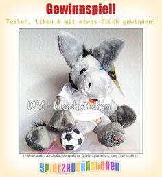 >>> #WM-#GEWINNSPIEL <<<  Anlässlich der #Fußballweltmeisterschaft #verlosen wir dieses knuddelige #Maskottchen. Fehlt dir noch der passende Glücksbringer zur #WM? Dann nutze die Chance, den süßen Esel zu #gewinnen!