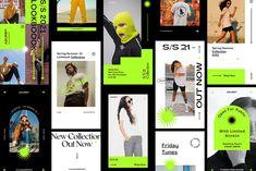 Azure Instagram Lookbook Templates by Nurrehmet Studio on @creativemarket Graphic Design Branding, Advertising Design, Graphic Design Illustration, Typography Design, Social Media Template, Social Media Design, Id Design, Instagram Feed, Instagram Posts