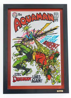 Aquaman Pintura sobre acero inoxidable