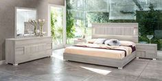 Vig Furniture - Modrest Ethan Italian Modern Grey Bedroom Set - VGACETHAN-SET-GRY