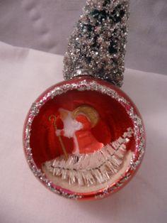 Joyeux Noël Vintage rouge verre Diorama par beforehefindsout, $16.99