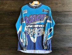 Vintage 90s Ocelot Racing Stage 3 Motorcross Shirt Vintage Sport, Ocelot, Cuff Sleeves, Vintage Looks, Stage, Racing, Mens Tops, Shirts, Etsy