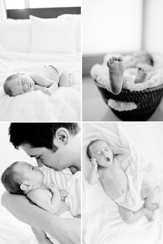 Baby and Daddy newborn photo