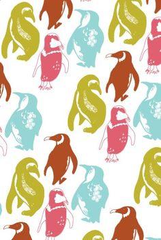 Penguin pattern by Georgina Fineman
