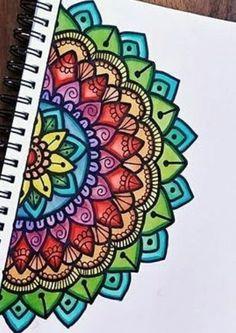 Easy Mandala Drawing, Mandala Art Lesson, Doodle Art Drawing, Mandala Artwork, Mandala Painting, Mandala Doodle, Zen Doodle, Easy Pencil Drawings, Cool Art Drawings