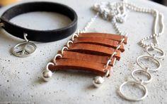 elsass, diy: leather pendant + bracelet