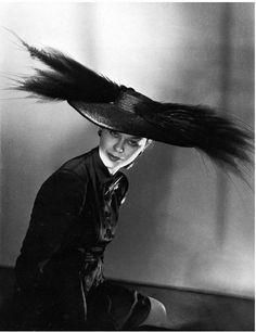 Schiaparelli Hat.by Horst P Horst. Paris '46.