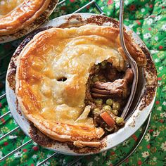 Pungent Stilton cheese and malty stout beer enrich the filling in these classic Lancashire meat pies.
