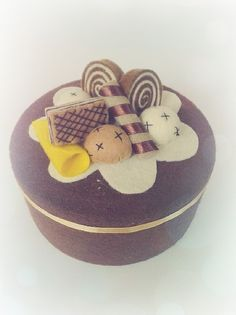 my creation from #felt #flannel #creation #handmade #cake