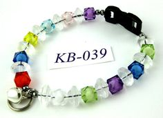KB039 multicolor cubes and clear saucers acrylic by OklahomaMama, $10.00