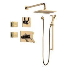 Buy the Delta Vero TempAssure Shower Package CZ Champagne Bronze Direct. Shop for the Delta Vero TempAssure Shower Package CZ Champagne Bronze with Diverter Trim, Shower Head, Slide Bar Hand Shower, 2 Body Sprays, and Wall Supply and save.