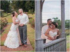The perfect wedding dress for a vintage inspired wedding at Norfolk Botanical Gardens - #ElizabethHensonPhotos #VirginiaWeddingPhotographer #VintageBride