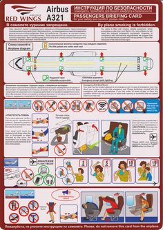 Safety Card  Red Wings A321 (1) FRONT