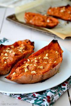 Spiced Twice-Baked Sweet Potatoes