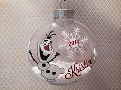DIY Olaf Ornament Craft Kit Frozen Inspired by cypressbelledecals Frozen Ornaments, Vinyl Ornaments, Disney Ornaments, Painted Christmas Ornaments, Christmas Baubles, Holiday Ornaments, Christmas Decorations, Ornaments Ideas, Ball Ornaments