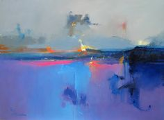 Paintings by Peter Wileman. More images below. Peter Wileman's Website via: iamjapanese Abstract Landscape Painting, Landscape Art, Landscape Paintings, Abstract Paintings, Painting Clouds, Peter Wileman, Paintings I Love, Community Art, Art Oil