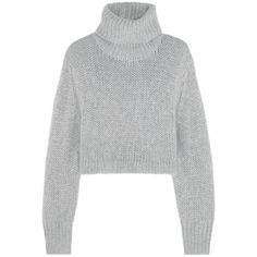 Cropped knitted turtleneck sweater (€285) ❤ liked on Polyvore