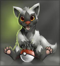 Poochyena, A dark type Pokemon. Pokemon 20, Play Pokemon, Pokemon Comics, Pokemon Fan Art, Cute Pokemon, Pokemon Fusion, Dark Type Pokemon, Digimon, Animal Drawings