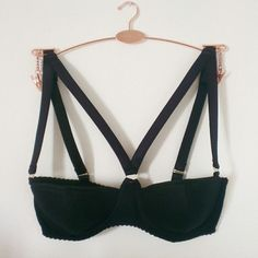 Made a batch of these bad boys today! The perfect black balconette bra handmade to order.