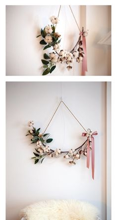 Simple Flowers, Dried Flowers, Seasonal Decor, Holiday Decor, Ringe Gold, Winter Wedding Decorations, Floral Hoops, Flower Wall Decor, Flower Pictures