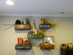 Vintage Suitcase Shelves / Suitcase Shelf Large