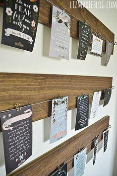 DIY Wood & Wire art display - lizmarieblog.com