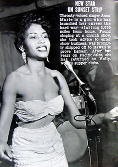 New Star on Sunset Strip - Later Known as Abbey Lincoln - Jet Magazine, July 1, 1954 by vieilles_annonces, via Flickr