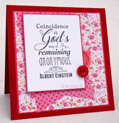 No one can argue with Albert Einstein!   #cardmaking #rubberstamping…