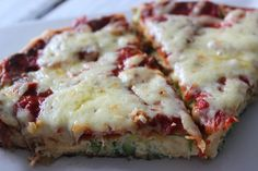Zucchini frittata based pizza. Looks quite delicious