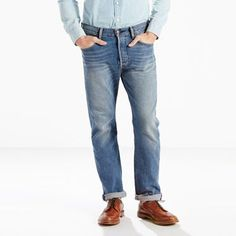Levi's 501 Original Fit Stretch Jeans (Big & Tall) - Men's 42x38