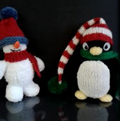 Close up of Cath's snowman and penguin.                        Gloucestershire Resource Centre http://www.grcltd.org/home-resource-centre/
