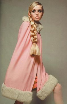 Twiggy in the most amazing cape