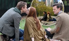 Is this the final kiss? Doctor Who stars Karen Gillan and Arthur Darvill lock lips in their final few scenes together with Matt Smith in New York