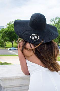 Marley Lilly Monogrammed Derby Hat
