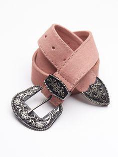 Brocade Western Belt   Western-inspired waist belt featuring a metallic brocade fabric design. Ornate double belt buckles.