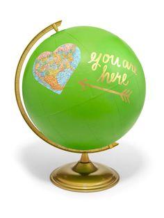 DIY Painted Globe | HGTV