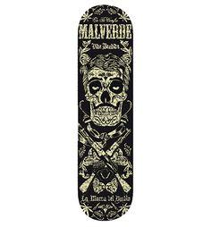 """Malverde Skate""  Available at www.lamarcadeldiablo.com"