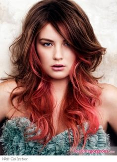 Beautiful red balayage