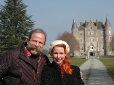 Dick and Angel bought the home in France for £280,000 with a small budget to do up the ent... Channel 4's Escape to the Chateau follow the footsteps as Dick and Angel turn a shabby French castle into a family home. Dick Strawbridge and Angel Adoree seen hard at work restoring the house at Chateau-de-la-Motte Husson in Pays de la Loire, France