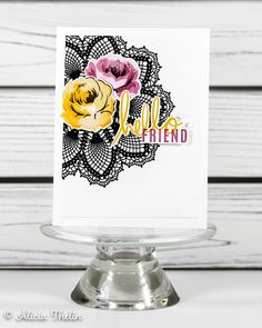 Hello Friend Concord And 9th, Heidi Swapp, Altenew, Greeting Cards Handmade, Doilies, Design Projects, Etsy Store, Cardmaking, Stampin Up