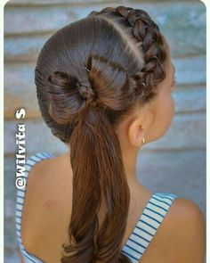 These hair styles will be fairly simple and are great for starters, fast and simple young one hairstyles. Lil Girl Hairstyles, Dance Hairstyles, Back To School Hairstyles, Braided Hairstyles, Wedding Hairstyles, Cool Hairstyles, Girl Hair Dos, Natural Hair Styles, Long Hair Styles