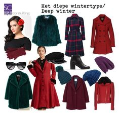 """Het diepe wintertype/ Deep winter color type."" By Margriet Roorda-Faber, Style Consulting."