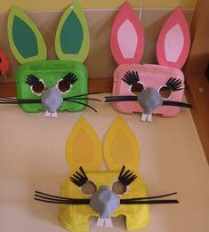 Gooi je eierdozen niet meer weg! Je maakt er ontzettend leuke dingen mee Craft Activities For Kids, Projects For Kids, Crafts For Kids, Arts And Crafts, Diy Crafts, Bunny Crafts, Easter Crafts, Egg Carton Crafts, Idee Diy