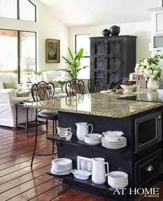 Guests can mingle easily between the open kitchen and great room.